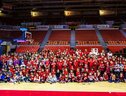 Tecnyconta Zaragoza celebra un entrenamiento a puerta abierta con sus Escuelas