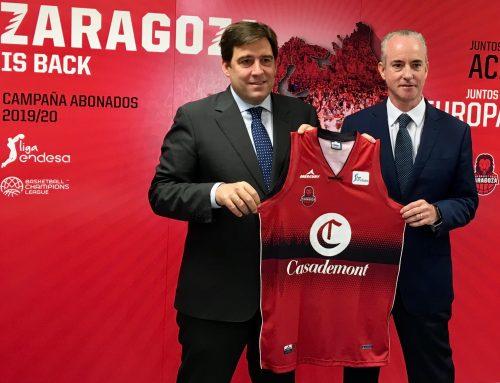 El Grupo Costa con sú marca Casademont se convierte en el patrocinador principal de Basket Zaragoza